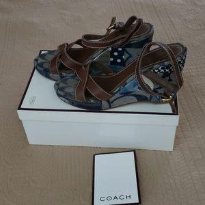 Authentic Coach Wedge Heel Sandals